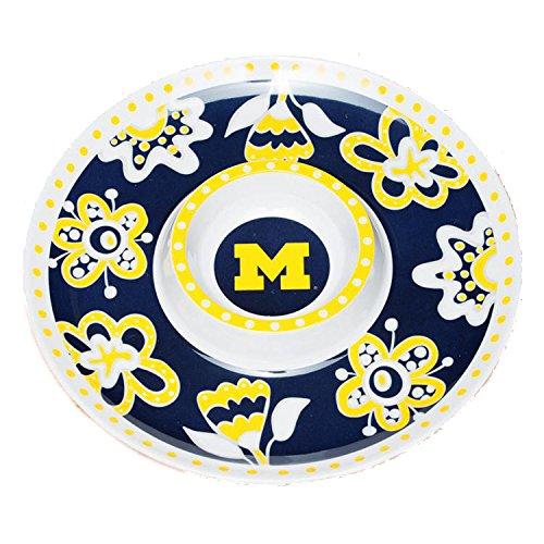 Bulldogs Melamine Chip - Glory Haus Michigan Chip -FeetN Dip Platter, 14-Inch