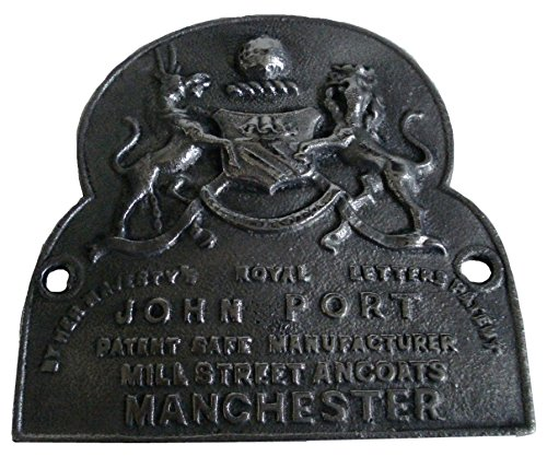 Brass Blessing Antique Style Heavy CAST John Port Manchester Safe Plate Best Collection from 5130