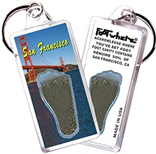 "product image for San Francisco ""FootWhere"" Keychain. Made in USA (SF105 - G. Gate)"