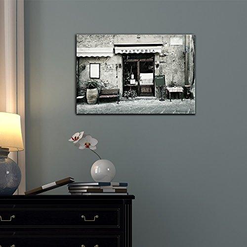 Wall26 - Doors Canvas Wall Art - Door of an Italian Restaurant - Gallery Wrap Modern Home Decor | Ready to Hang - 12x18 inches