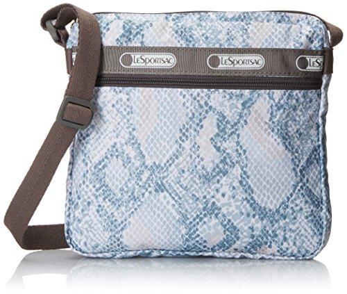 LeSportsac Shellie Cross Body Bag, Aqua Snake, One Size
