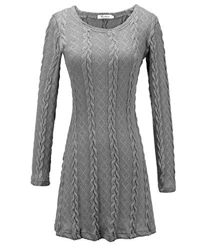 Milkuu Women's Cotton Modal Jersey East Side Long-Sleeve Dress