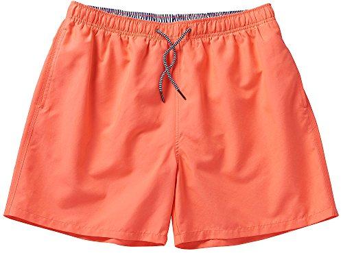 NCXtreme Herren Badeshort / Badehose, Männer Schwimmhose mit vielen Taschen, schnelltrocknend und ultraleicht (Größen: M - 4XL, Farbe: Orange)