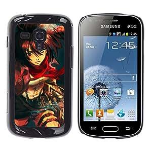 EJOY---Cubierta de la caja de protección la piel dura para el / Samsung Galaxy S Duos S7562 / --Muchacha de la historieta japonesa