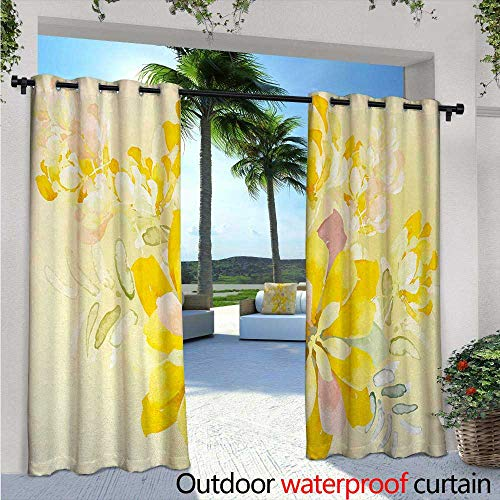 Abstract Orchid - Country Outdoor Privacy Curtain for Pergola W72