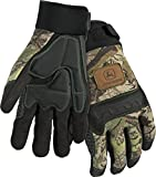 West Chester John Deere JD00011 Anti-Vibration High Dexterity Synthetic Leather Palm Knuckle Work Gloves: Camo, Large, 1 Pair
