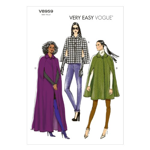 Vogue Patterns V8959ZZ0 Misses' Cape Sewing Template, Size -