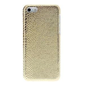 CECT STOCK Luminoso Snakeskin caso del patrón de la PC dura para el iPhone 5C (colores surtidos) , Oro