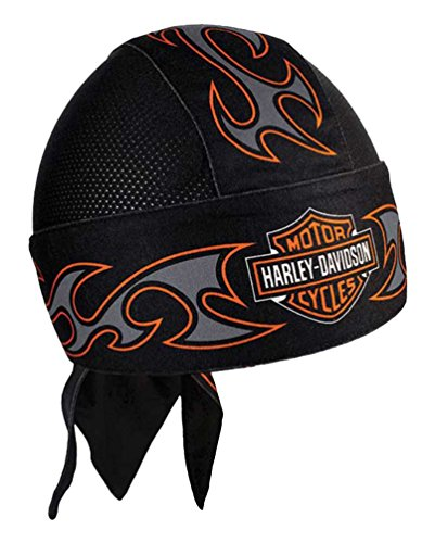 Harley-Davidson Men's Tribal Bar & Shield Air Flow Mesh Headwrap, Black (Black Tribal Shield)