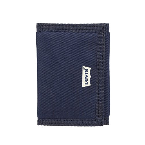 Levi's Men's RFID Security Blocking Nylon Trifold Wallet, Navy, One Size