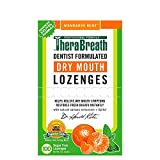 TheraBreath Dentist Formulated Dry Mouth Lozenges, Sugar Free, Mandarin Mint Flavor, 100 Count