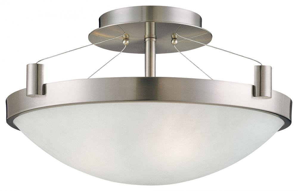 george kovacs p591084 suspended 3 light semi flush mount brushed nickel semi flush mount ceiling light fixtures amazoncom - Semi Flush Mount Lighting