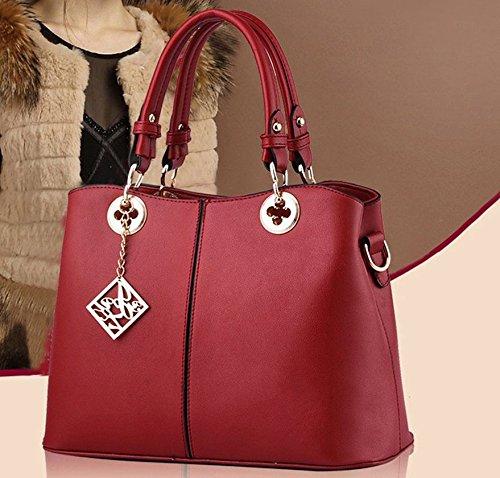 en Messenger main à Femmes Sac Girls Rouge Filles fourre épaule Sac cuir Vin Sac PU pochette Arichtop tout bandoulière à unique xqwvvXYI4r
