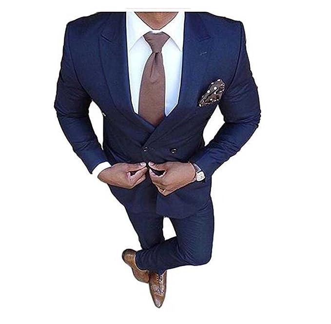 Aokaixi - Traje - para Hombre Azul Azul Marino 60EU - Chaqueta dbd5961734f