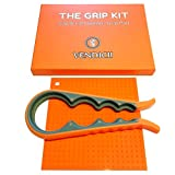 THE GRIP KIT Best Jar, Bottle, Lid, and Cap Opener With Silicone Grip Pad For Easy Grip And Twist Off For Seniors With Arthritis, Weak, Wet, And Greasy Hands, Great Kitchen Tools And Gift
