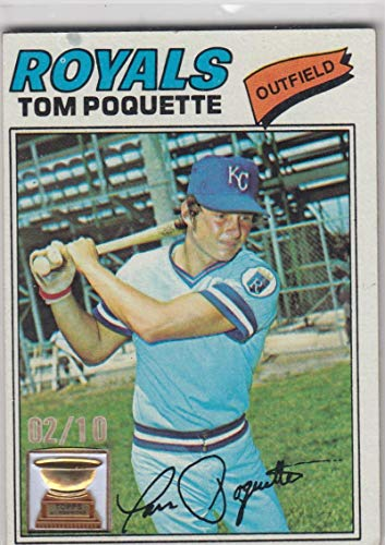 (2005 Topps Rookie Cup 1977 All Star Rookie Buyback Tom Poquette #93 NM Near Mint 2/10)