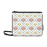 Damask Paisley Wallpaper Grunge Custom High-grade Nylon Slim Clutch Bag Cross-body Bag Shoulder Bag