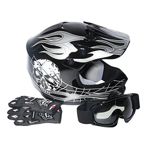 XFMT Youth Kids Motocross Offroad Street Dirt Bike Helmet Goggles Gloves Atv...