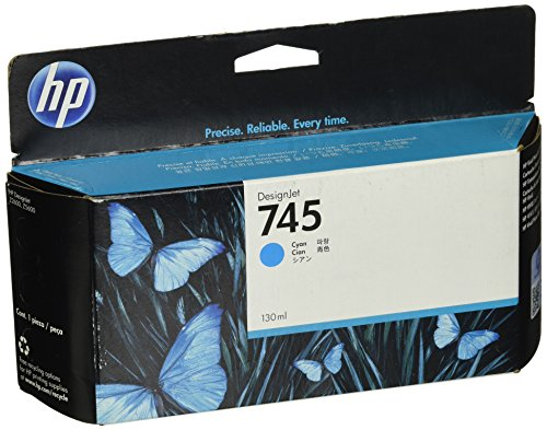 HP 745 F9J97A 130ml Cyan Original Designjet Ink (Designjet 130 Inkjet Printer)
