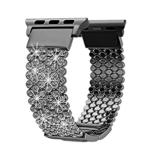 Compatible with Apple Watch Band 44mm 40mm Series 4 5 42mm 38mm Series 3 2 1 Women Girls iWatch Bands, Soaos Crystal Rhinestone Replacement Strap, ...