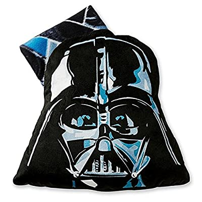 Star Wars Darth Vader 2 Pc Big Face Mask Pillow & Throw Blanket Set: Home & Kitchen