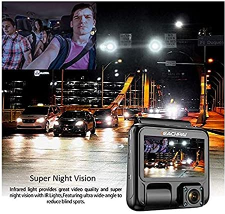 in-Cabin /& Road Cam with 8 Infra RED Lights Super Night Vision:1920X1080P HD+GPS,Unbeatable:-5F/°~150F/°,Wide Angle,G-Sensor,Motion Detect/&Free Kingston 32GB SD BBS Electronics Buying Advance HQ Quality Dual DashCam