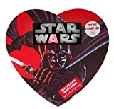 Star Wars Character Darth Vader Light Up Candy Box with Milk Chocolate Heart Candies