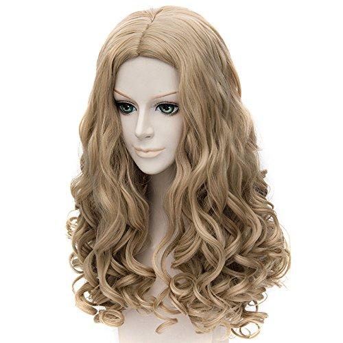 Falamka marrón pelo largo estilo princesa Cenicienta Rizado Cosplay Peluca: Amazon.es: Belleza