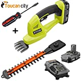 Ryobi P2910 ONE Plus 18-Volt Lithium-Ion Cordless Grass Shear and Shrubber Kit