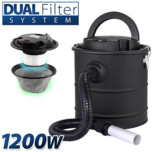 Aschesauger 20L Kaminsauger 1200W DUAL Filter System SELLNET SN2018