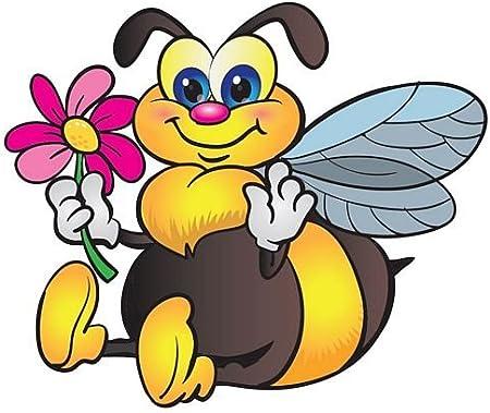 Fahnenmax Autoaufkleber Sticker Hummel Blume Aufkleber Auto