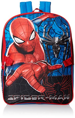 Marvel Boys' Spiderman Backpack with Lunch Kit