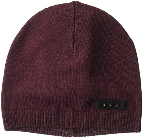 John Varvatos Star U.S.A Men's Merino Wool Jersey Skull Knit Hat, Garnet, One - Knit Beanie Garnet