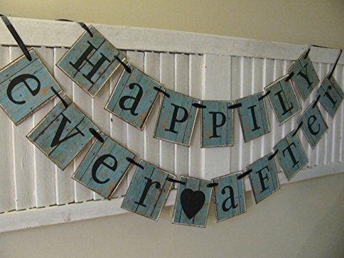 happily-ever-after-wedding-banner-bunting-garland-sign-teal-barn-siding-paper-cards