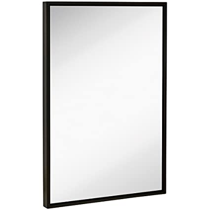 Amazoncom Clean Large Modern Black Frame Wall Mirror - How to clean bathroom mirror