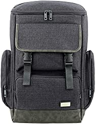 Backpack Black Canvas Laptop Bags Luggage