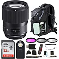 Focus Camera Sigma 135mm f/1.8 DG HSM Art Lens for Nikon w/Photo and Travel Bundle