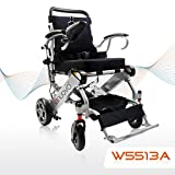 2019 UPGRADED Folding Electric Powered Wheelchair, Supports up to 265 lb, Weighs 50lb