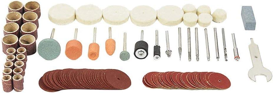 Sunnyday 105pcs mandrins de disque de coupe pour outils /électriques rotatifs foret pon/çage bande kit de polissage pour le travail du bois multifonction outil de r/éparation
