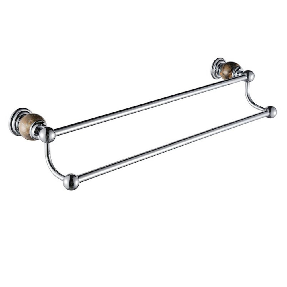 chic Bathroom Accessories/Jade Towel rack/European solid brass double Towel rack/Towel Bar-G