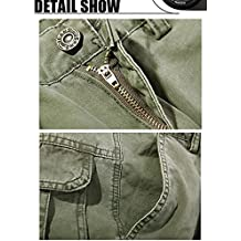 Kebinai Well worn Men's Casual Military Army Style Cargo Combat Work Pants Trousers