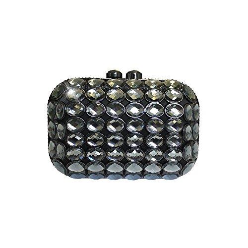 Anna Cecere Elegante Clutch gioiello con tracolla mod. ACA280 Nero