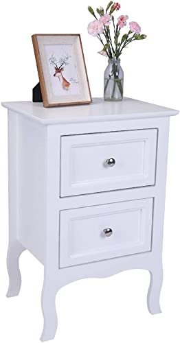Country Style Side End Table Night Stand Storage Shelf