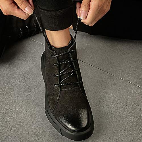 Pelle Foderati di da Lavoro Stivali in Stivali Stivali da Pelle Antiscivolo su Black in Stivali Sicurezza in Pelle Uomo 0pWY1Yaq