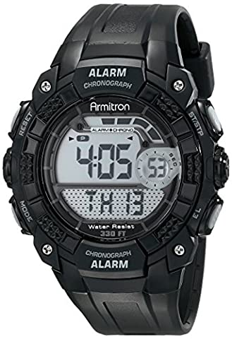 Armitron Sport Men's 408209BLK Digital Watch (Chrono Watch Sport)