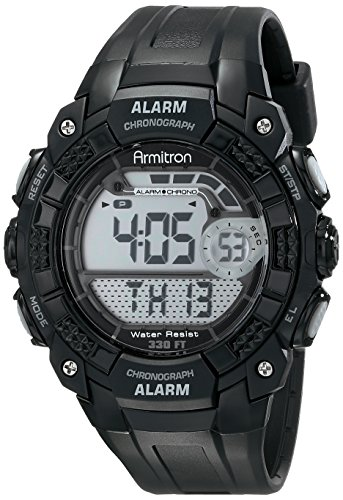 Armitron Sport Men's 408209BLK Digital (Chronograph Water Resistant Wrist Watch)
