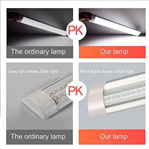 Luz de tubo LED Ultrafino Lamparas Barra de luz T10 10W 30cm 6000K Tubo led integrado Fluorescentes luz de tira Blanco frio 750lm Para gabinete sala de estar garaje oficina almac/én 2 piezas