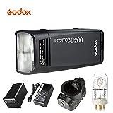 Godox AD200 200Ws 2.4G TTL Flash Strobe HSS 1/8000 Cordless Double Head Speedlite with 2900mAh Lithimu Battery