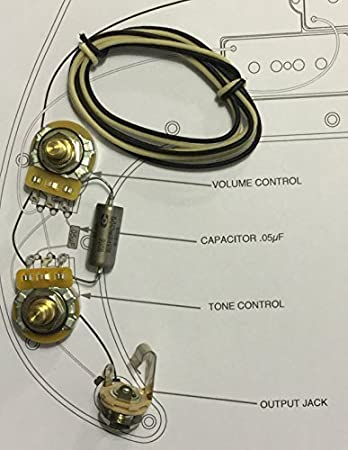 Amazon.com: TAOT Wiring Kit - Fender Precision Bass P-Bass® - K40Y ...