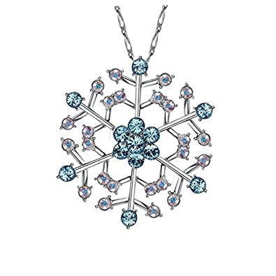 Buy NEVI Snowflake Fashion Swarovski Elements Rhodium Plated Opera ...